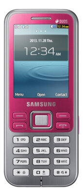 Мобильный телефон Samsung GT-C3322i Pink 1