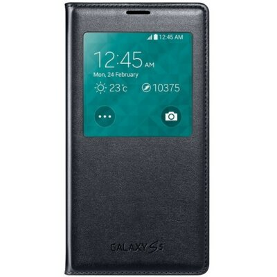 Чехол Samsung S Charger Cover S-View EP-VG900BBRGRU Black для Galaxy S5 1