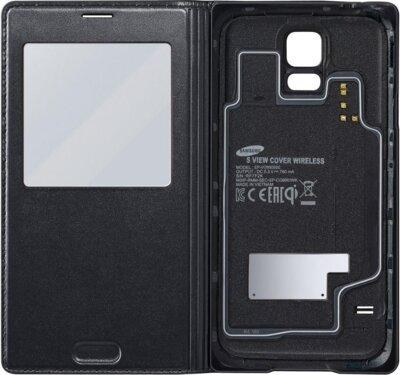 Чехол Samsung S Charger Cover S-View EP-VG900BBRGRU Black для Galaxy S5 2