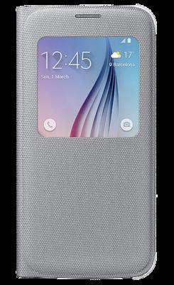 Чохол Samsung S View EF-CG920BSEGRU Silver для Galaxy S6 1