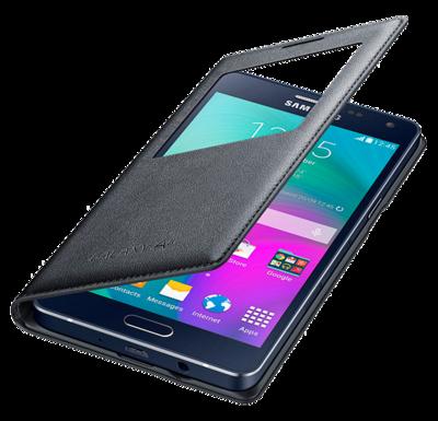 Чохол Samsung S View EF-CA500BCEGRU Charcoal для Galaxy A5 3