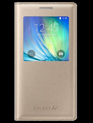 Чохол Samsung S View EF-CA500BFEGRU Gold для Galaxy A5 1