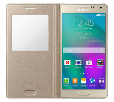Чохол Samsung S View EF-CA500BFEGRU Gold для Galaxy A5 2