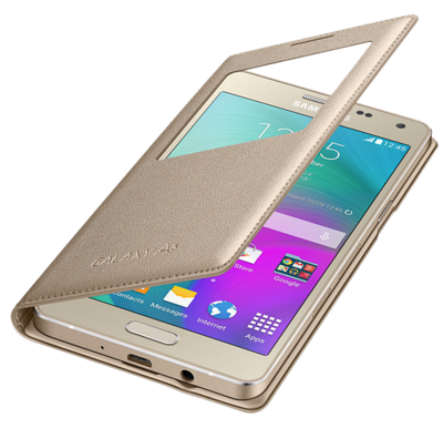 Чохол Samsung S View EF-CA500BFEGRU Gold для Galaxy A5 3