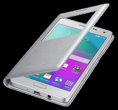 Чехол Samsung S View EF-CA500BSEGRU Silver для Galaxy A5 3
