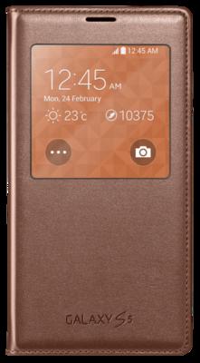 Чохол Samsung S View EF-CG900BFEG Rose Gold для Galaxy S5 1