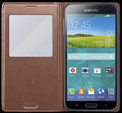 Чохол Samsung S View EF-CG900BFEG Rose Gold для Galaxy S5 2