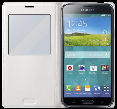 Чехол Samsung S View EF-CG900BWEG White для Galaxy S5 2