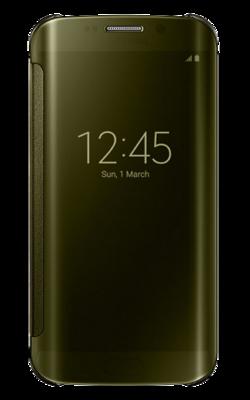 Чехол Samsung Clear View Cover EF-ZG925BFEGRU Gold для Galaxy S6 Edge 1