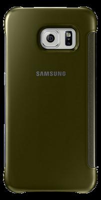 Чехол Samsung Clear View Cover EF-ZG925BFEGRU Gold для Galaxy S6 Edge 3