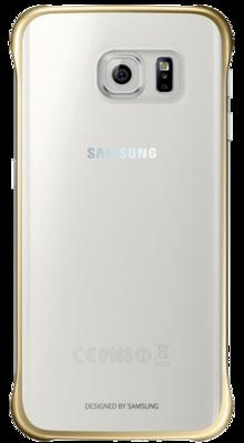 Чохол Samsung Clear Cover EF-QG925BFEGRU Gold для Galaxy S6 Edge 1