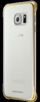 Чохол Samsung Clear Cover EF-QG925BFEGRU Gold для Galaxy S6 Edge 2