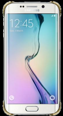 Чохол Samsung Clear Cover EF-QG925BFEGRU Gold для Galaxy S6 Edge 3