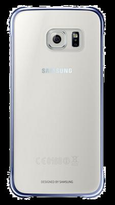 Чохол Samsung Clear Cover EF-QG920BBEGRU Half Transparent Black для Galaxy S6 1