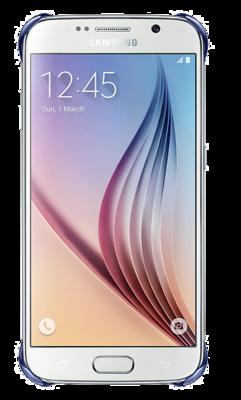 Чохол Samsung Clear Cover EF-QG920BBEGRU Half Transparent Black для Galaxy S6 2