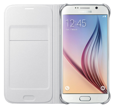 Чохол Samsung Flip Wallet EF-WG920PWEGRU White для Galaxy S6 2