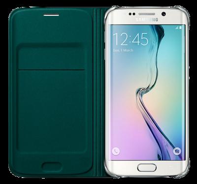 Чохол Samsung Flip Wallet EF-WG925BGEGRU Green для Galaxy S6 Edge 2
