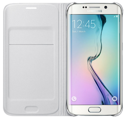 Чохол Samsung Flip Wallet EF-WG925PWEGRU White для Galaxy S6 Edge 2