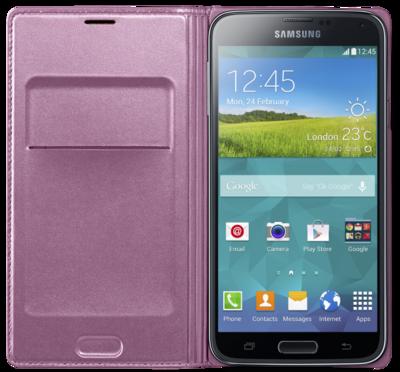 Чохол Samsung Flip Wallet EF-WG900BPEG Pink для Galaxy S5 2