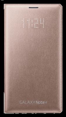 Чехол Samsung LED Flip Wallet EF-NN910BEEGRU Gold для Galaxy Note 4 1