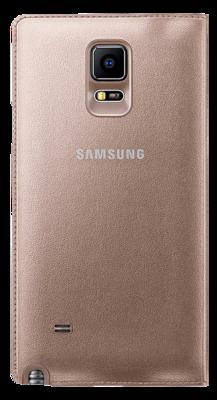 Чехол Samsung LED Flip Wallet EF-NN910BEEGRU Gold для Galaxy Note 4 4