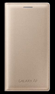 Чехол Samsung Flip Cover EF-FA300BFEGRU Gold для Galaxy A3 1