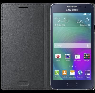 Чохол Samsung Flip Cover EF-FA300BCEGRU Charcoal для Galaxy A3 2