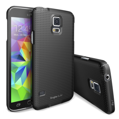 Чохол Ringke Slim 156865 Dot SF Black для Samsung Galaxy S5 1