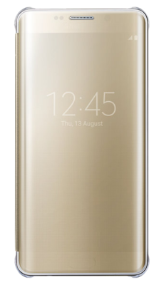 Чехол Samsung Clear View Cover EF-ZG928CFEGRU Gold для Galaxy S6 Edge Plus 1