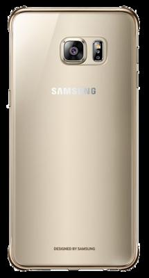 Чехол Samsung Clear Cover EF-QG928MBEGRU Glossy Gold для Galaxy S6 Edge Plus 1