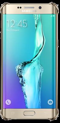 Чехол Samsung Clear Cover EF-QG928MBEGRU Glossy Gold для Galaxy S6 Edge Plus 4