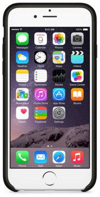 Чехол Apple Leather Case MGR62ZM/A Black для iPhone 6 4