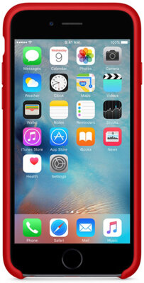Чехол Apple Silicone Case MKXM2ZM/A Red для iPhone 6 Plus 3