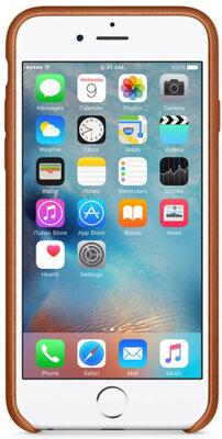 Чохол Apple Leather Case MKXC2ZM/A Saddle Brown для iPhone 6 Plus 4