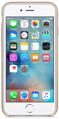 Чохол Apple Leather Case MKXE2ZM/A Rose Gray для iPhone 6 Plus 4