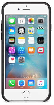 Чехол Apple Leather Case MKXF2ZM/A Black для iPhone 6 Plus 3