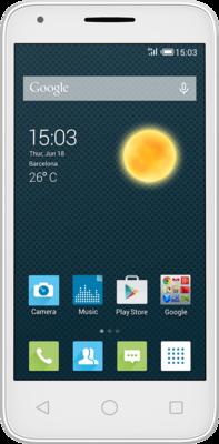 Смартфон Alcatel PIXI 3 5017D Metallic Silver 1