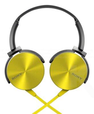 Наушники Sony MDR-XB450 Yellow 2