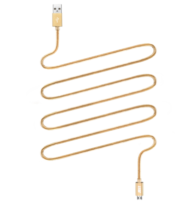 Кабель JUST Copper Micro USB Cable 2M Gold 1