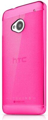 Чехол iTSkins The new Ghost Pink для HTC One (M7) 2