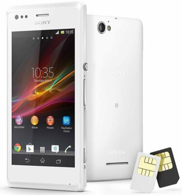 Смартфон Sony Xperia M Dual C2005 White 2