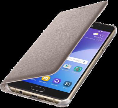 Чохол Samsung Flip Wallet EF-WA710PFEGRU Gold для Galaxy A7 (2016) 2