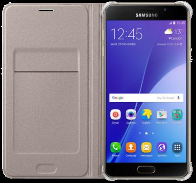Чохол Samsung Flip Wallet EF-WA710PFEGRU Gold для Galaxy A7 (2016) 3