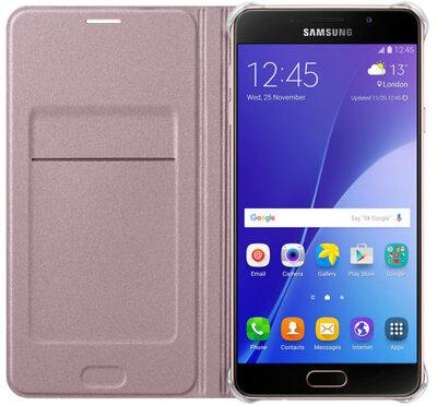 Чехол Samsung Flip Wallet EF-WA710PZEGRU Pink Gold для Galaxy A7 (2016) 2
