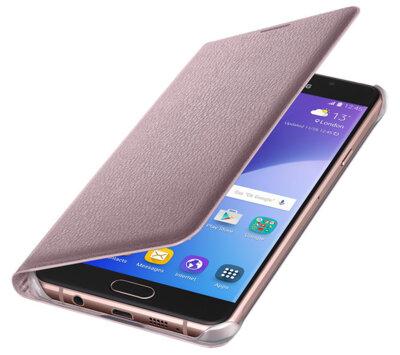 Чехол Samsung Flip Wallet EF-WA710PZEGRU Pink Gold для Galaxy A7 (2016) 3