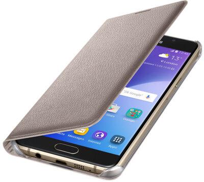 Чехол Samsung Flip Wallet EF-WA510PFEGRU Gold для Galaxy A5 (2016) 2