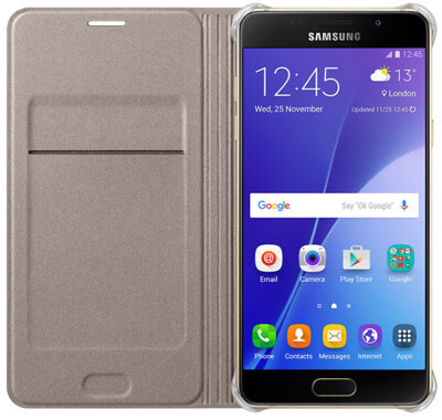 Чехол Samsung Flip Wallet EF-WA510PFEGRU Gold для Galaxy A5 (2016) 3