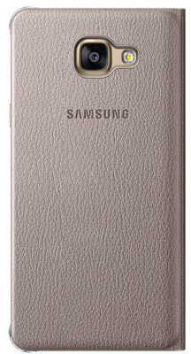 Чехол Samsung Flip Wallet EF-WA510PFEGRU Gold для Galaxy A5 (2016) 4