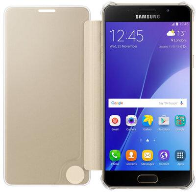 Чехол Samsung Clear View EF-ZA510CFEGRU Gold для Galaxy A5 (2016) 2