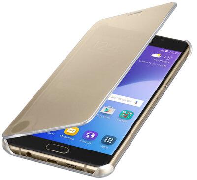 Чехол Samsung Clear View EF-ZA510CFEGRU Gold для Galaxy A5 (2016) 3